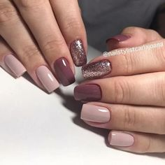 120 Attractive Nail Designs Ideas That Are So Perfect For Fa.- 120 Attractive Nail Designs Ideas That Are So Perfect For Fall - Plum Nails, Fall Gel Nails, Short Gel Nails, Neutral Nails, Winter Nails, Chic Nails, Stylish Nails, Gorgeous Nails, Pretty Nails