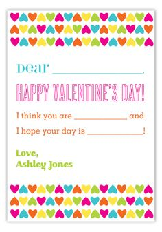 Create Your Own Valentine Card #Kids Valentines Day Cards  #ValentinesDay