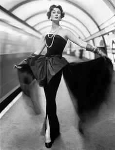 Barbara Goalen by John French (1954) #evening #gown