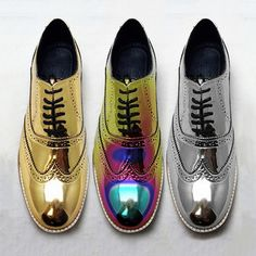 Luke Grant-Muller - Metallic brogues for Men and Women #Blessed (Those holographic ones tho <3)