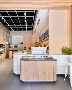 Picnic, Bloor Street East by Mason Studio Cafe Bar, Cafe Restaurant, Restaurant Design, Retail Interior, Cafe Interior, Store Concept, Wood Cafe, Cafe Counter, Visual Merchandising