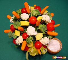 Flower Pot Veggies (like edible arrangements w/ veg's)