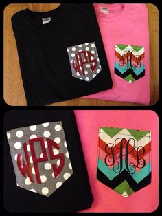 Decorative Pocket Tshirt with vinyl by JLHCreativeDesigns on Etsy, $16.00