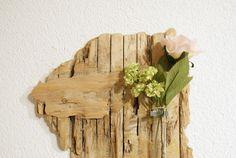 ~ Wandvase IX - Treibholz ~ von nordic Art auf DaWanda.com