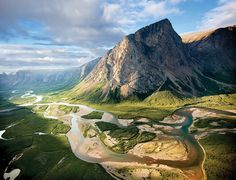 View of Torngat Mountains and Waterways, Newfoundland and Labrador, Canada