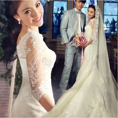 082bf682861ce Cheap plus wedding dress, Buy Quality stock wedding dresses directly from China  wedding dress Suppliers: s Stock 2016 New Plus size bridal gown women  sleeve ...