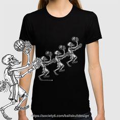 BAllSKUll - Layup to the Heart T-Shirts 🏀))))ball x skull)))))) #newdesign #tshirt #ballskull #tee #bball #basketball #hoop #skull #bones #skeleton more design✍️ at https://society6.com/ballskulldesign