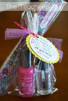 visiting teachers gifts nail polish   End of Year Teacher Gifts