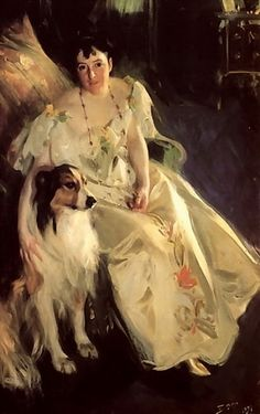 A lady and a collie Anders Zorn