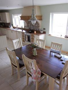 Our new kitchen Kitchen Layout, New Kitchen, Kitchen Ideas, Ikea, Dining Table, Home And Garden, Cottage, House, Furniture