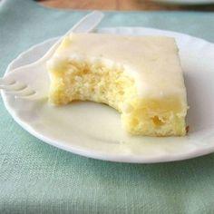 Sweet, chewy, lemon brownies!