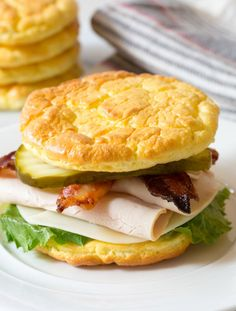 Cloud Bread is delicious, Low Carb, Low Fat, Gluten Free, and Grain Free. The Best Cloud Bread Recipe is a must-make this diet season! Gluten Free Recipes, Low Carb Recipes, Diet Recipes, Cooking Recipes, Healthy Recipes, Bread Recipes, No Carb Bread, Keto Bread, Vegetarian Recipes