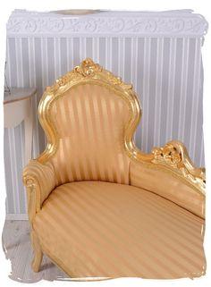 Vintage Sofa Rokoko Recamiere Chaiselongue Gold Liege Barock 389,00 palazzo.de