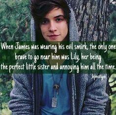 James' evil smirk.