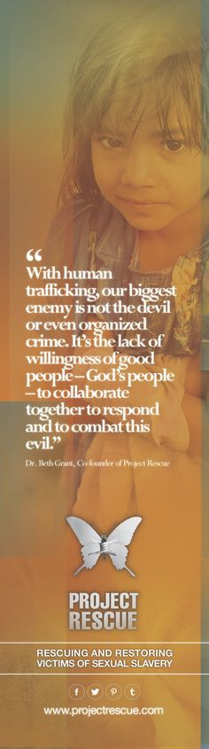 """""""With #humantrafficking, our biggest #enemy is not the devil…"""""""