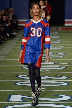 Love the use of a pitch for the catwalk to tie-in the collection; Tommy Hilfiger Fall 2015 RTW Runway – Vogue