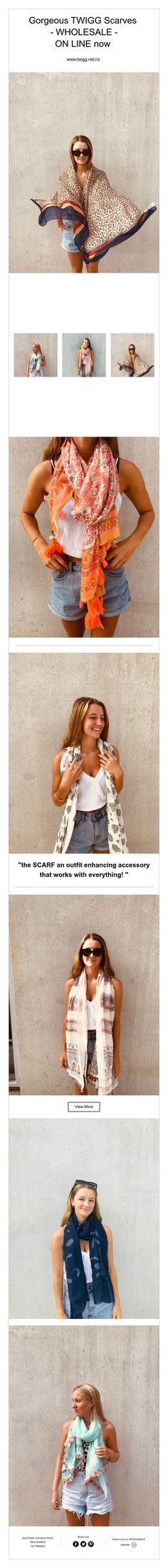 """the SCARF an outfit enhancing accessory that works with everything!"