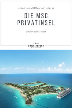 "Erster Blick auf die MSC Privatinsel ""Ocean Cay MSC Marine Reserve"" #msc #msccruise #privateisland Safari, Marine Reserves, Strand, Chill, Cruise, Miami, Luxury, Ice Land, Small Island"