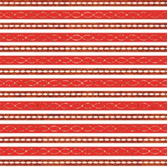 Red Link Stripe Holographic Gift Wrap *discontinued*