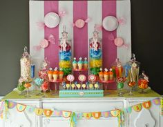 Candy party! I love these sweets tables!