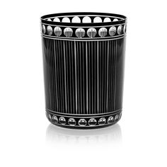 CHRONICA   Handmade Glass Blown Medium Tumbler, Chronica-Black 1923, height: 100 mm   top diameter: 82 mm   volume: 330 ml   Bohemian Crystal   Crystal Glass   Luxurious Glass   Hand Engraved   Original Gift for Everyone   clarescoglass