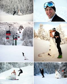 This is truly Stowe, VT! Grab your snowboard and come get hitched! Snowboard Wedding, Ski Wedding, Wedding Pics, Wedding Couples, Wedding Styles, Destination Wedding, Dream Wedding, Wedding Dresses, Cute Wedding Ideas