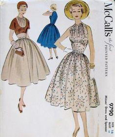 Misses' Dress and Spencer