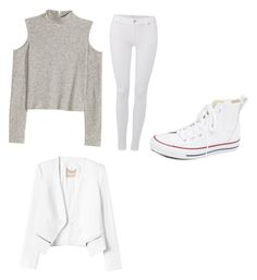 """Untitled #5"" by faithboge-1 on Polyvore featuring 7 For All Mankind, Converse, Rebecca Taylor, women's clothing, women's fashion, women, female, woman, misses and juniors"