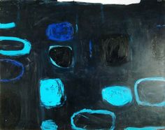 William Scott - Composition with Blue and Black, 1959, Oil on canvas, 102 x 127cm (40 x 50 in) Aberdeen Art Gallery and Museums www.aagm.co.uk