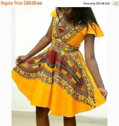 ON SALE  25% OFF African Print Dashiki dress  The by FashAfrique