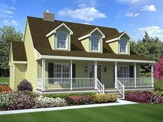 15  Cape Cod House Style Ideas and Floor Plans   Interior   Exterior     Cape cod Style House Plans   1560 Square Foot Home   2 Story  3 Bedroom and  2 Bath  Garage Stalls by Monster House Plans   Plan