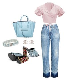 """""""Untitled #10"""" by emgeemte on Polyvore featuring AG Adriano Goldschmied, VIVETTA, Gucci, CÉLINE and Chanel"""