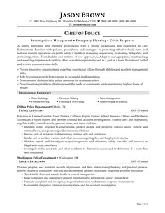 police officer resume sample httpwwwresumecareerinfopolice