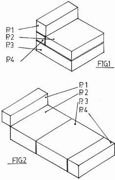 Sofa-cama (índice 6) (1 de enero de 1990) - sofa-cama caracterizado porque una unica estructura de piezas de goma-espuma tapizadas y articul...