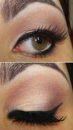 What I'm thinking for makeup. Defined brows, natural shades with a little shimmer, and cat eyes.