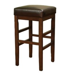"Empire Extra Tall Stool by American Heritage. $159.95. Floor Glides. Stationary Stool. Finished in Sierra. Plush 3 in. Cushion. Merlot Leather Cushion. 134845SR-L11 Features: -Merlot leather cushion.-Plush 3"" cushion.-Floor glides. Color/Finish: -Sierra finish. Warranty: -1 Year manufacturer limit warranty."