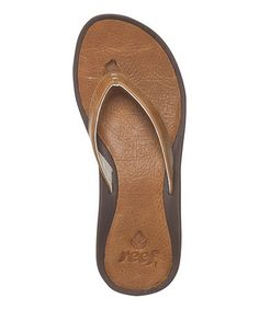 a78313b85f1ff Look at this Tan Skinny J-Bay Flip-Flop - Women by Reef