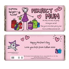 Personalised Purple Ronnie Perfect Mum Shopping Chocolate Bar  from Personalised Gifts Shop - ONLY £6.95
