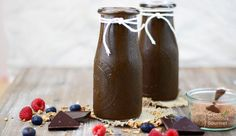 Iced Dark Chocolate Smoothie by Green Smoothie Gourmet
