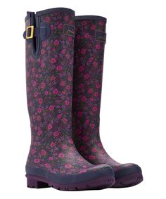 Look at this Joules Navy Ditsy Welly Rain Boot on #zulily today!