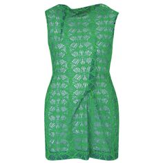 ROLAND MOURET $2100 green embroidered tulle lace Zonda mini dress 44-IT/8-US NEW #RolandMouret #EmbroideredTulle #Zonda #GreenLace