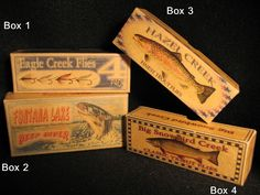 Fontana Lake, Eagle Creek and Hazel Creek North Carolina fishing lure box cabin decorations