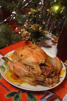 Необыкновенное праздничное блюдо! Удиви своих гостей курицей, фаршированной гранатом и сыром.