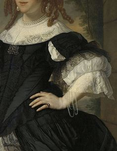 Geertruida den Dubbelde (detail) | Bartholomeus van der Helst and Ludolf Bakhuysen | 1668
