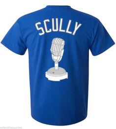 Vin Scully Los Angeles Dodgers Majestic MLB Men's T-Shirt #Majestic #LosAngelesDodgers