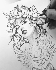 + 100 Best Easy Pencil Drawings Images : Tatuajes - Art & Drawing Community : Explore & Discover the best and the most inspiring Art & Drawings ideas & trends from all around the world Pencil Art Drawings, Art Drawings Sketches, Tattoo Sketches, Tattoo Drawings, Bild Tattoos, Body Art Tattoos, Sleeve Tattoos, Tatoos, Portrait Tattoo Sleeve