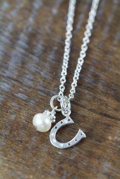 Flower Girl Horseshoe Necklaces 925 Sterling Silver #FlowerGirl #FlowerGirlNecklace