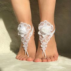 blush pink beaded beach wedding barefoot sandals country
