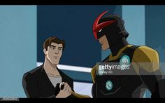 Ultimate Spiderman, Grown-up Peter Parker, and Nova Prime