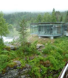 Amazing rest area along a highway in #Norway - beat's American truck stops!